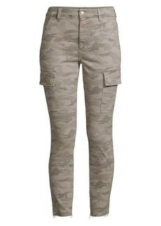 Joe's Jeans Charlie High-Rise Ankle Skinny Camouflage Jeans