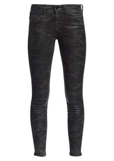 Joe's Jeans Charlie High-Rise Ankle Skinny Coated Camouflage Jeans