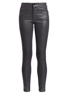 Joe's Jeans The Charlie High-Rise Ankle Skinny Coated Jeans
