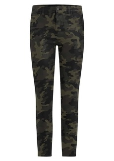 Joe's Jeans Charlie High-Rise Coated Camouflage Ankle Skinny Jeans
