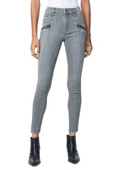 Joe's Jeans Charlie High-Rise Moto Ankle Skinny Jeans