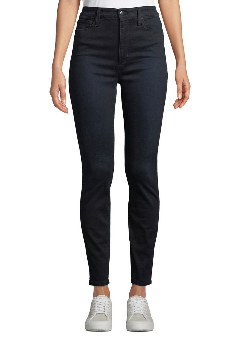 Joe's Jeans Charlie HIgh-Rise Skinny Ankle Jeans  Black