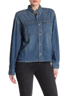 Joe's Jeans Cropped Denim Shirt
