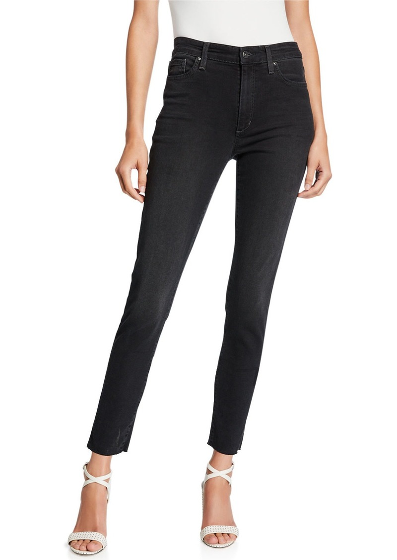 Joe's Jeans Deirdra High-Rise Raw Vented Ankle Jeans