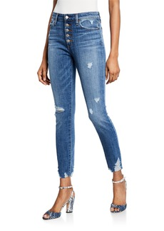 Joe's Jeans Destroyed High-Rise Ankle Skinny Jeans