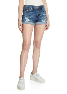 Joe's Jeans Destroyed Single-Cuff Shorts