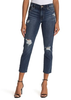 Joe's Jeans Distressed Crop Slim Boyfriend Jeans