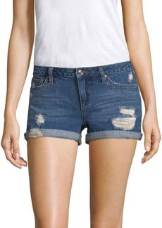 Joe's Jeans Distressed Denim Rolled Shorts