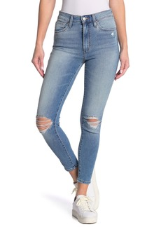 Joe's Jeans Distressed High Rise Ankle Skinny Jeans