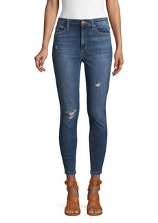 Joe's Jeans Distressed High-Rise Cropped Jeans