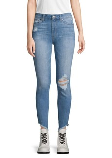 Joe's Jeans Distressed High-Rise Skinny Jeans