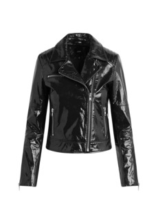 Joe's Jeans Dylan Patent Leather Zip Moto Jacket