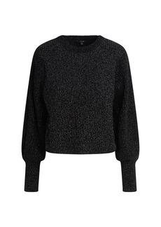 Joe's Jeans Edith Boyfriend Crewneck Puff-Sleeve Sweater