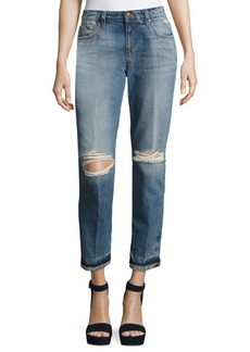 Ex-Lover Distressed Ankle Jeans