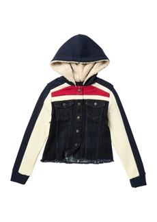 Joe's Jeans Faux Fur Hooded Partial Denim Jacket (Big Girls)