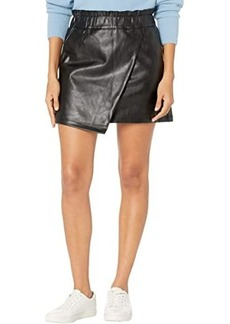 Joe's Jeans Faux Leather Wrapped Miniskirt