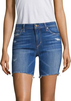 Joe's Jeans Finn Bermuda Distressed Denim Shorts