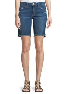 Joe's Jeans Finn Raw-Edge Denim Bermuda Shorts