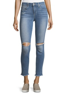 Finn Skinny Distressed Ankle Jeans