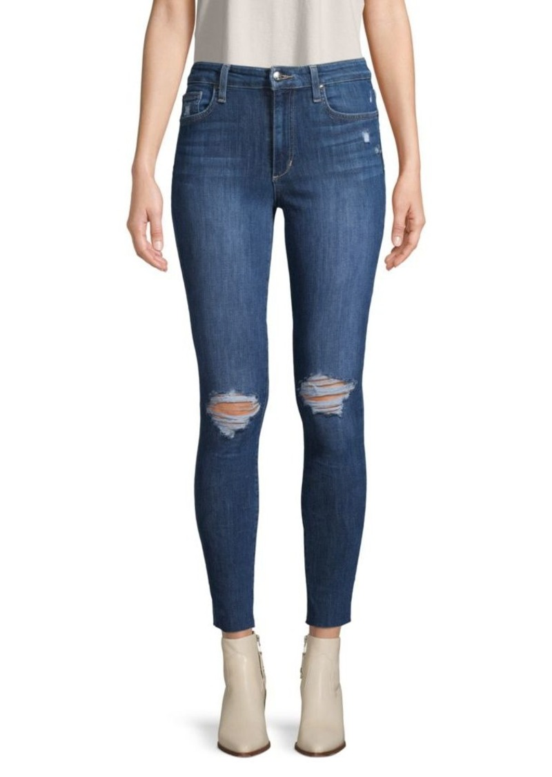 Joe's Jeans Flawless Distressed High-Rise Ankle Skinny Jeans