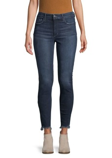 Joe's Jeans Flawless Raw-Edge High-Rise Skinny Ankle Jeans