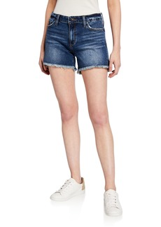 Joe's Jeans Frayed Cut-Off High-Low Shorts