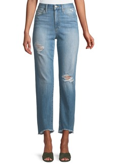 Joe's Jeans Frayed High-Rise Distressed Ankle Jeans