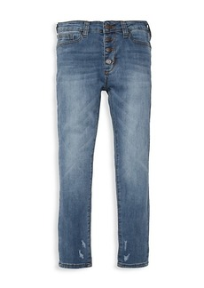 Joe's Jeans Girl's High-Rise Button Straight Jeans