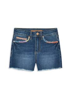 Joe's Jeans Girl's The Freya Embroidered Denim Shorts