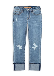 Joe's Jeans Girl's The Jane Fit Distressed Cuffed Jeans