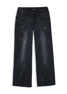 Joe's Jeans Girl's Wide-Leg Paint Splatter Jeans