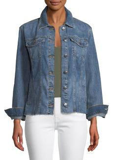 Joe's Jeans Heidi Denim Raw-Edge Jacket