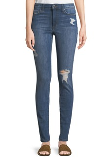Joe's Jeans High-Rise Distressed Skinny Jeans