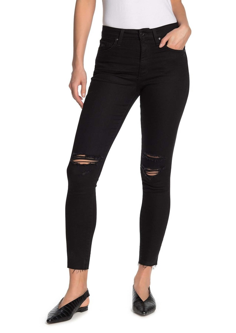 Joe's Jeans High Rise Distressed Skinny Jeans