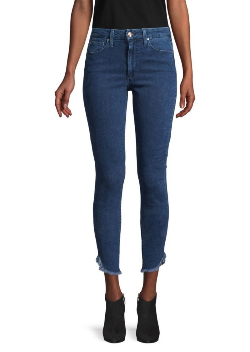 Joe's Jeans High-Rise Honey Dolphin-Hem Curvy Skinny Ankle Jeans