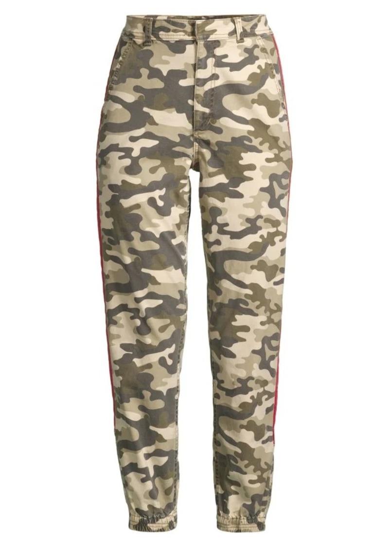 Joe's Jeans High-Rise Racing-Stripe Camo Pants