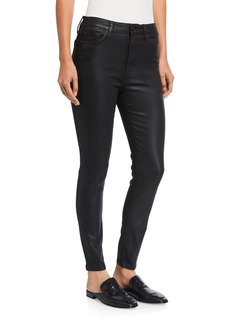 Joe's Jeans High Rise Skinny Ankle Coated Jeans