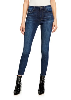 Joe's Jeans High-Rise Skinny Ankle Jeans w/ Frayed Hem