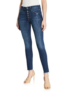 Joe's Jeans High Rise Skinny Ankle Jeans With Button Fly