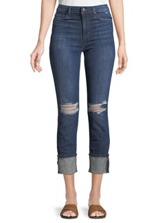 Joe's Jeans High-Rise Skinny Cropped Cuffed Jeans
