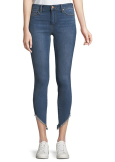 Joe's Jeans High-Rise Skinny Frayed-Hem Ankle Jeans