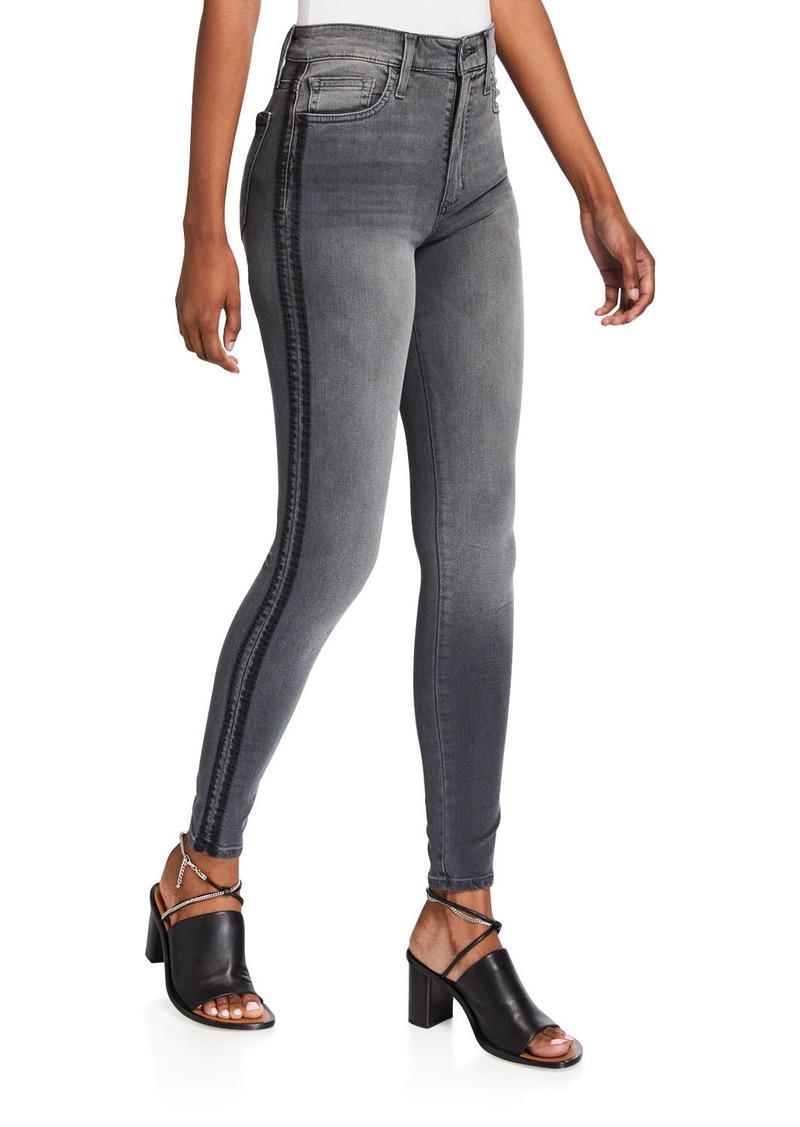 Joe's Jeans High-Rise Skinny Shadow Stripe Jeans