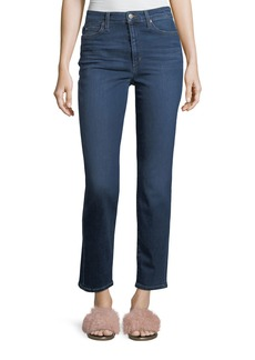 Joe's Jeans High-Rise Slim/Straight Ankle Jeans in Angelika