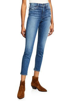 Joe's Jeans High-Waist Distressed Cropped Skinny Jeans