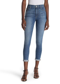 Joe's Jeans High Waisted Ripped Denim Cuffed Skinny Jeans