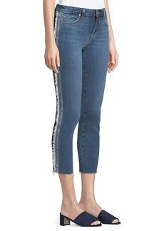 Joe's Jeans Icon Tuxedo-Stripe Cropped Jeans