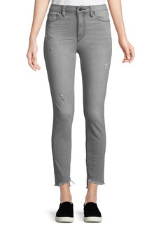 Joe's Jeans Janine High-Rise Frayed Ankle Jeans