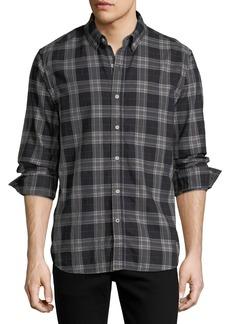 Joe's Jeans Jimmy Button-Down Twill Plaid Shirt