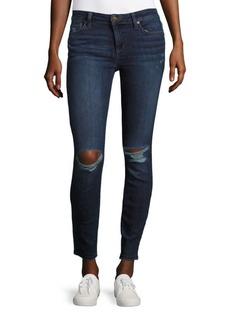 Joe's Aria Frayed-Hem Skinny Jeans