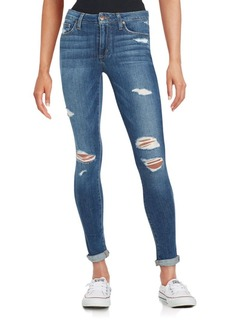 Joe's Beckett Distressed Rolled-Cuff Skinny Jeans